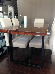 Reclaimed Rustic Barn Board Harvest Table with Chairs Kingston Kingston Area image 5