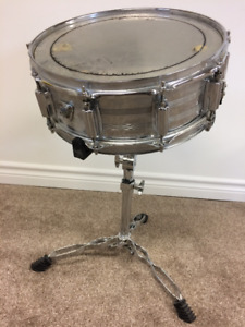 Tama Imperialstar 5x14 Metal Snare Drum w/Gibraltar Snare Stand
