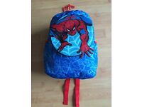 Children's Spiderman sleeping bag in rucksack with removable picture