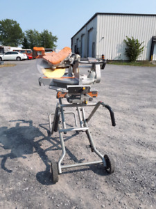 RIDGID mitre saw  with stand