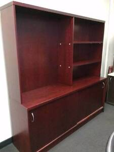 *Large Cherry Mahogany Office Shelving/Cupboard Unit* Wollongong Wollongong Area Preview