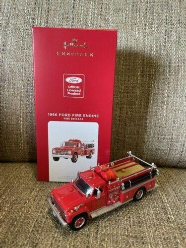 2021 Hallmark 1966 FORD FIRE ENGINE 19th In Series Ornament *NIB* FREE SHIP US!!