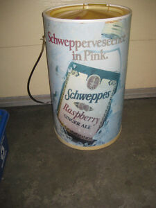 Vintage Store Display Cooler - Schweppes Ginger Ale