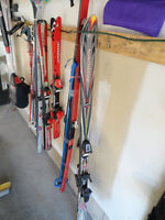 3 Pair of Downhill Skis with Bindings