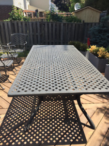 4 x 8 foot patio table - seats 10 easily