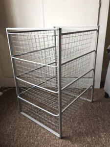 Ikea ANTONIUS Frame and wire baskets, grey