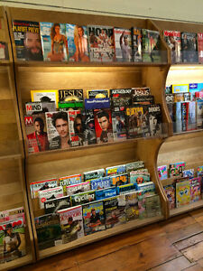 Wood Magazine Shelf with Lighting Kingston Kingston Area image 3