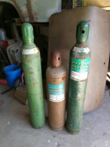 Oxygen and Acetylene tanks