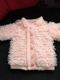 Baby crochet loopy cardigan