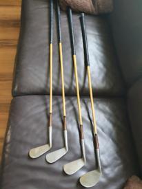 Antique vintage PGA Custom Made Golf clubs wooden