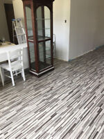 Luxury vinyl plank flooring, with installation