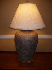 Unique stone table lamp