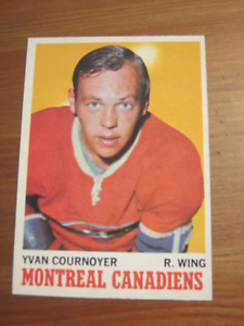 1970 71 OPC O Pee Chee # 50 Yvan Cournoyer - Montreal Canadiens