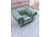 Leather Chesterfield club chair