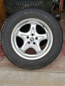Pneus hiver et mags Subaru Outback ou Forester (5X100 ET48)