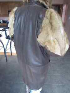 Genuine Leather and Fur Jacket Peterborough Peterborough Area image 4