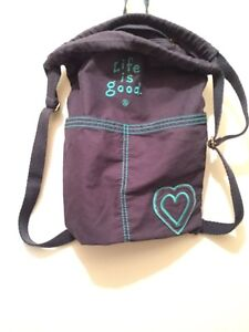 New Life is Good cotton backpack