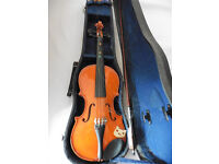 skylark childs size violin for beginners in hard carry case bow needs new hair