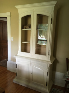 Antique Buffet and Hutch/Display cabinet
