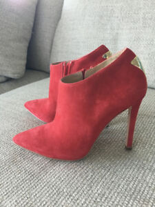 """Beautiful Red Suede """"Marciano"""" Bootie. Size 7. Worn only once."""