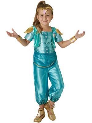 ess Shimmer & Shine Costume Kid Arabian Nights Genie Child (Girl Genie Kostüme)