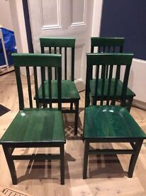 4 x solid wood John Lewis dining chairs