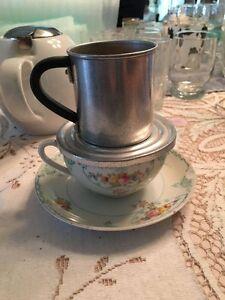 Tea Cup & Saucer with Strainer