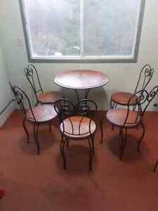 Wrought-iron table and chairs!