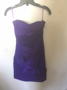 Purple dress from Suzy Shier