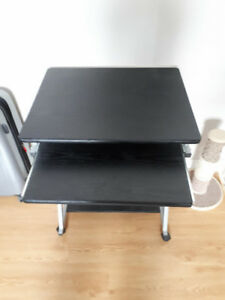 Small black studying desk