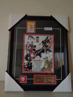 Gordie Howe Red Wings HOF Framed Photo Replica Card Signed Auto