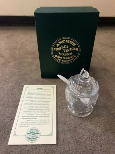 Anchor Pickle & Vinegar Works Heinz Noble & Co Horseradish Jar with Box 1993