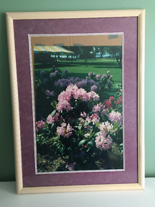 MOVING SALE- Framed and Matted Floral Print