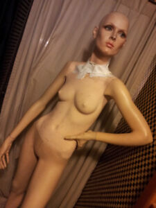Vintage Female Mannequin Tall and slender Full with stand