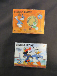 Walt Disney postage stamps  lot (6) 1984 Donald Duck Birthday