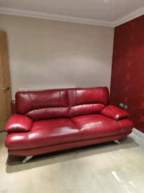 Modern Red Sofa, very little use