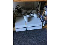 PS4 white and games