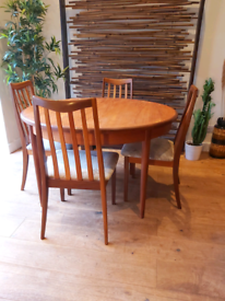 Stunning 1960's G plans teak extending dining table and 6 chairs