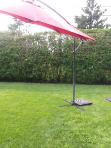 Outdoor Umbrella with base