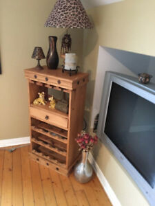SOLID WOOD WINE RACK - $60 OR BEST OFFER