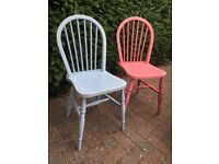 Spindle back shabby chic dining kitchen chairs - sturdy