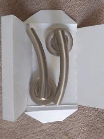 Brushed chrome door handles