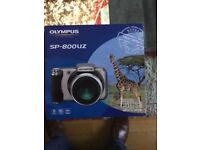 Olympus SP-800ZUZ digital bridge camera kit boxed with all accessories