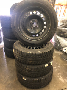 Michelin winter tires 195/60/R15 winter tires on steel rims