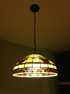 "Huge 18"" Tiffany style chandelier lamp"