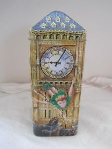 Churchill's Peter Pan Money Box 3D Embossed Big Ben Toffee Tin