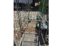 Detacahable roll cage shelves