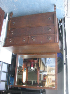 DOWNSIZING HOUSEHOLD - COUCH DRESSER DESK TABLES HUTCH