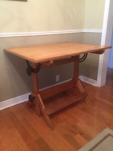 Vintage Drafting Table - Desk - Dining Table