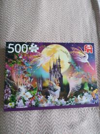 500 piece fairy castle jigsaw puzzle